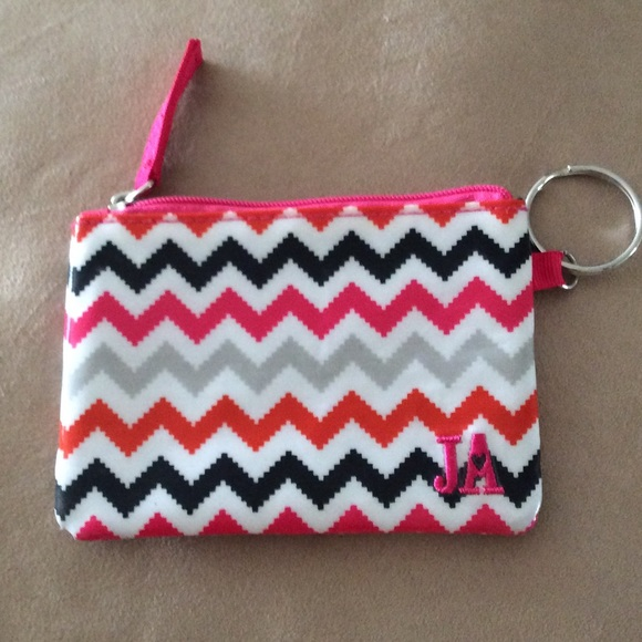 Bags | Cute Chevron Keychain Id Holder Wallet Pouch | Poshmark