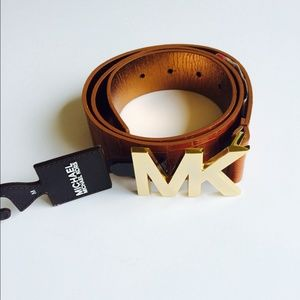 Brown MK Belt Leather Authentic