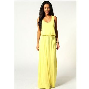 Maxi Yellow Dress New