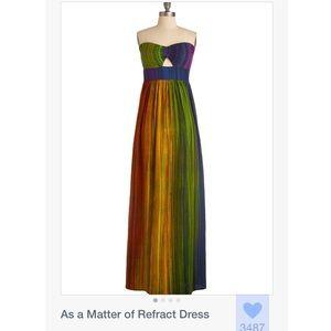🌈Modcloth Rainbow Strapless Maxi Dress🌈