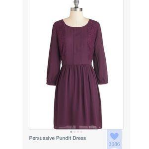 "Purple Long Sleeve ""Persuasive Pundit Dress"""