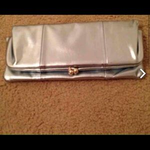 Blue metallic clutch