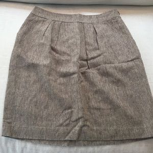 Anthropologie tan skirt with pockets
