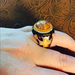 Alan K Jewelry - Murano Glass silver 925 ring by Alan K Sz 6 2MR297