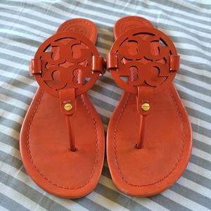 a9ba3b3bc42e6 Tory Burch Shoes - Tory Burch Miller sandals orange patent! 9