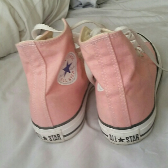 baby pink converse high tops