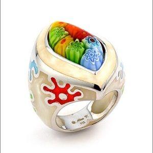 Alan K Jewelry - Murano Glass silver 925 ring by Alan K 2MR227