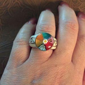 Alan K Jewelry - Murano Glass silver 925 ring by Alan K 2MR95