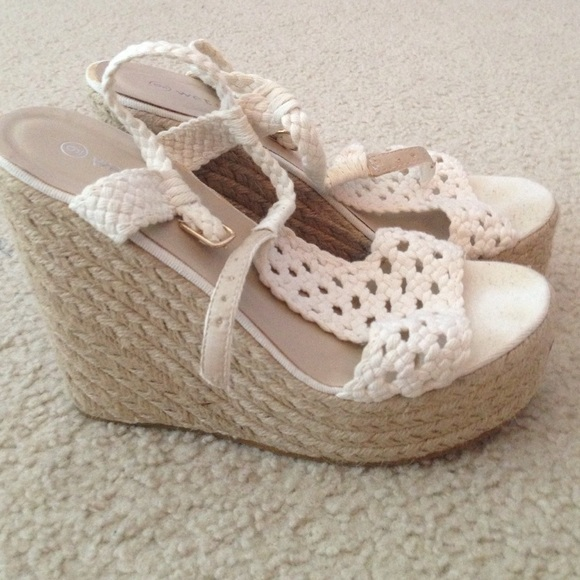 70 seal shoes white crochet wedges from steph s