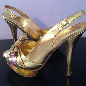 BCBGirls Gold Heel