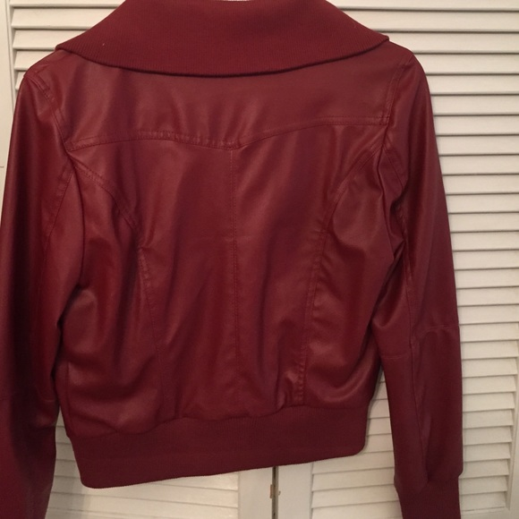 49% off Zenana Outfitters Jackets u0026 Blazers - Red leather jacket from Stephanieu0026#39;s closet on Poshmark