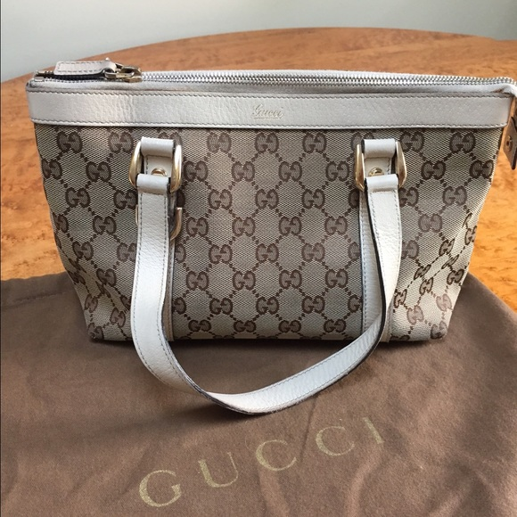 91a6e8d4e830 Gucci Bags | Ivory Gg Canvas Abbey D Ring Small Tote | Poshmark