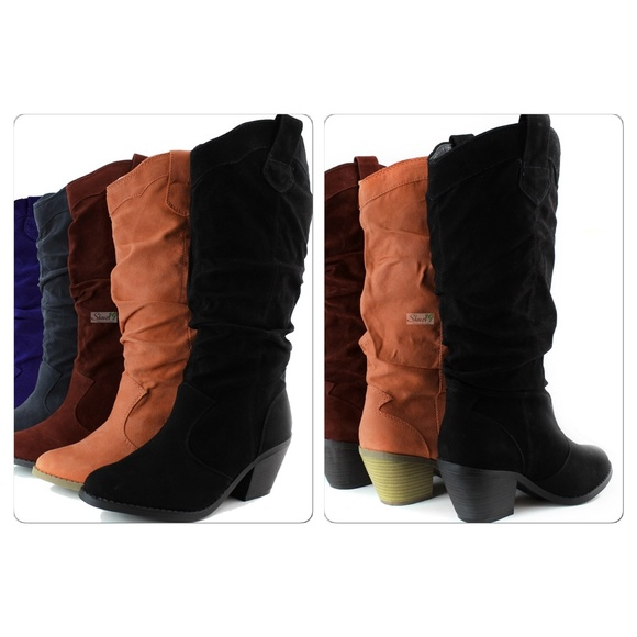 18 cupid boots nib faux suede cowboy boots from