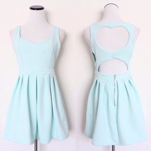Poof Couture Dresses & Skirts - Mint Heart Cutout Dress