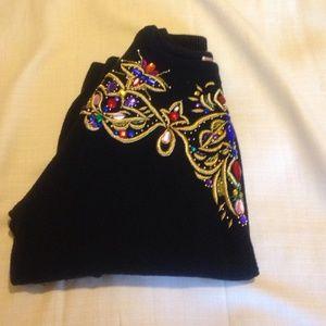 ️⚡️Flash Sale⚡️Vintage black and jewel sweater