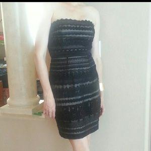 Cynthia  Steffe 100% Silk Black Dress