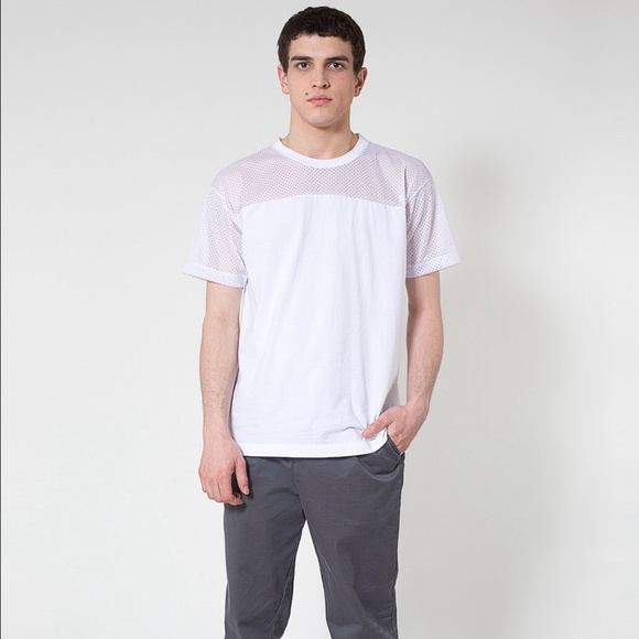 77 off american apparel other american apparel unisex for American apparel mesh shirt