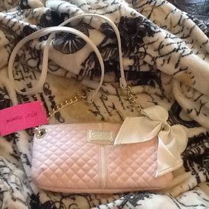 Nwt betsey Johnson mini crossbody pink purse