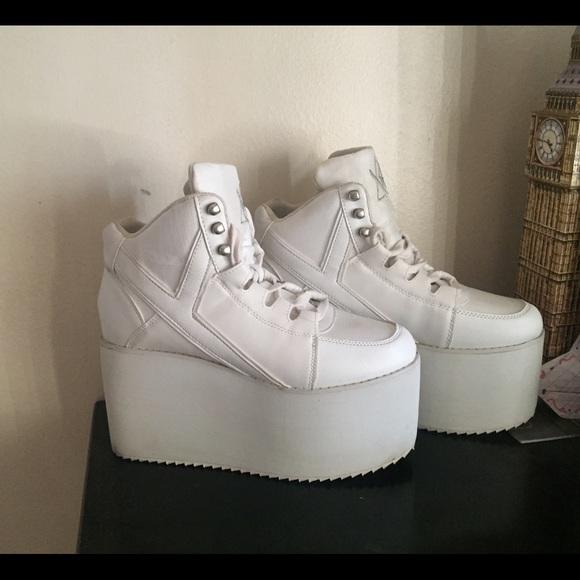 6df37aaa79 YRU Shoes | Used Qozmo Hi White Platform Sneakers | Poshmark