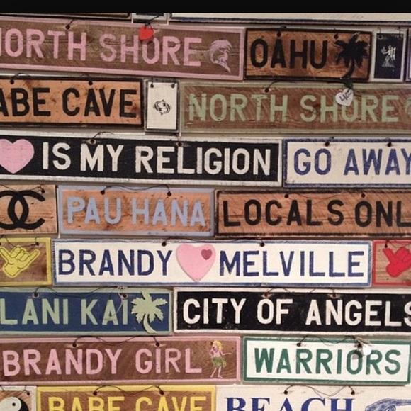 4f9dfa3c9a Brandy Melville Accessories | Custom Brandy Signs | Poshmark