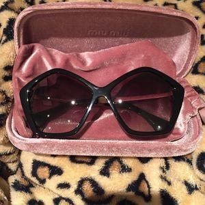 3bae542c74be Miu Miu Accessories - Miu miu oversized layered star sunglasses