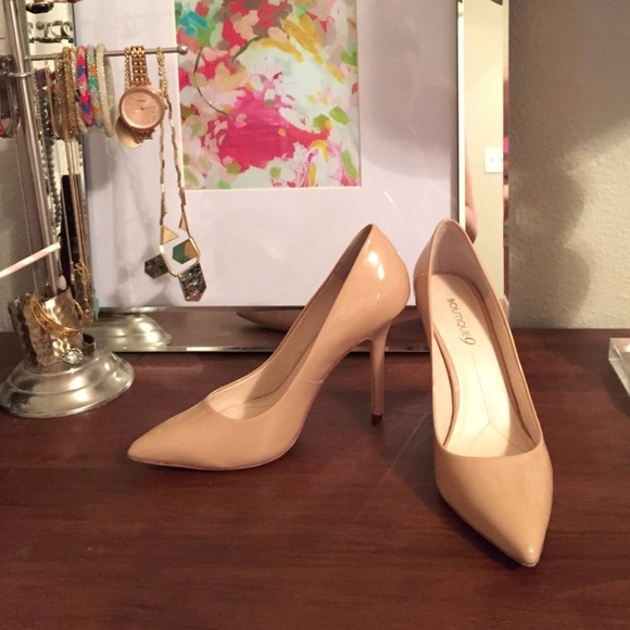 cba39286f6ad7 Boutique 9 Shoes - Boutique 9 - Justine Pump in Nude Patent - 9.5