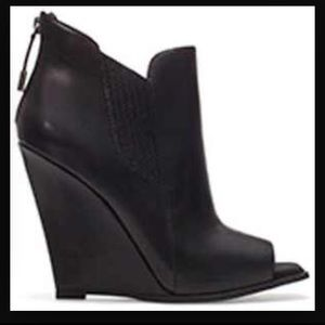Zara peep toe wedge bootie