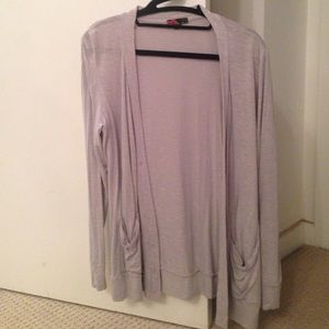 Grey very thin boyfriend cardigan sweater
