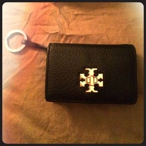 Tory burch card holder wallet with keyring