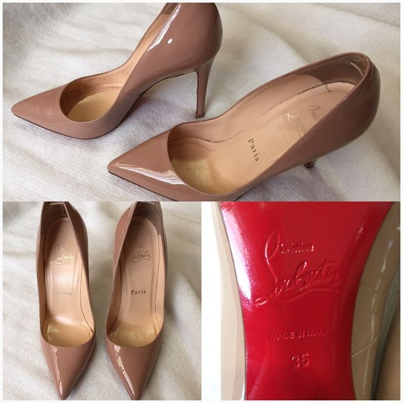 f63850dde562 27% off Christian Louboutin Shoes - Christian Louboutin Pigalle Nude Patent  Pumps 35 from Peilee s closet on Poshmark