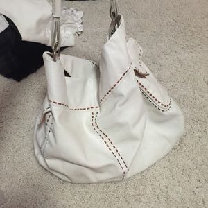White leather Prada tote bag