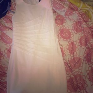 Cute white fitted dress for sale!!