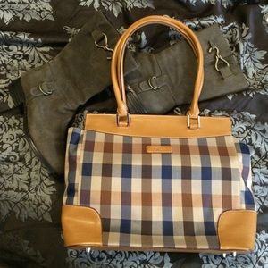 "Handbags - ⚡️ FLASH SALE⚡️Plaid & ""Leather"" Handbag"