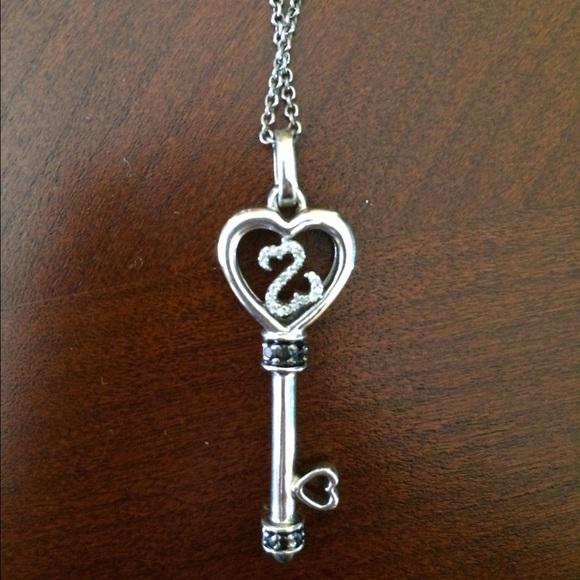 Kay Jewelers Jewelry Open Hearts Key Necklace Poshmark