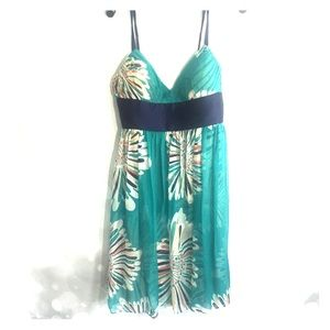 Catherine Malandrino turquoise party dress