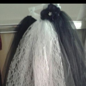 Black and white flower girl tutu dress or for pics