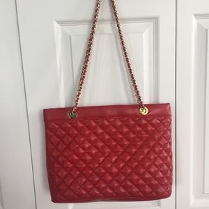 Jennifer Moore Red Quilted Bag