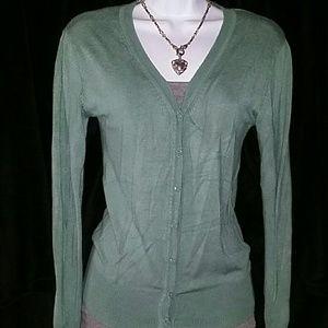 Zara Sage Green Sweater Cardigan Size S !