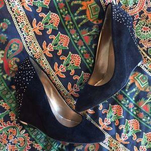 BCBGeneration Shoes - BCBGeneration Jeweled Pointy Toed Wedges