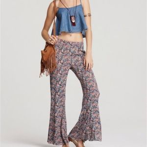 NWT Free People floral wide leg boho palazzos