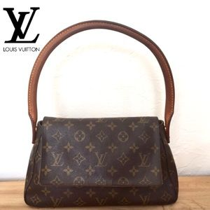 Louis Vuitton Brown Monogram Canvas Rolled Handle