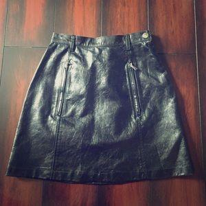 Prada Dresses & Skirts - Authentic Prada leather high waisted skirt