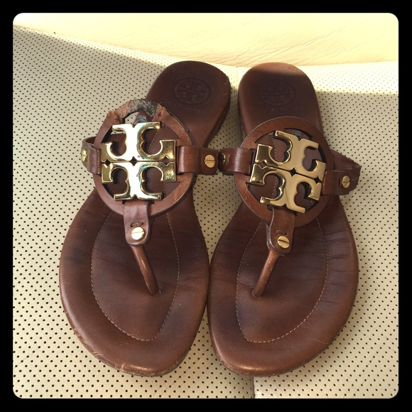 456481663c70 SOLD Tory Burch Miller Sandals - need repair. M 556766dfd6b4a1103f000222