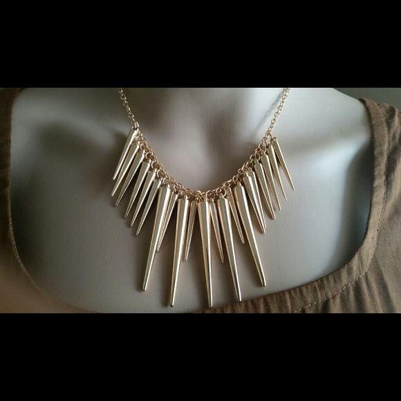 79 fashion jewelry jewelry gold alloy spike trendy