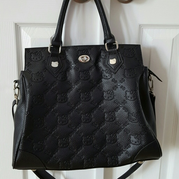 38377500bd33 Loungefly Handbags - LOUNGEFLY HELLO KITTY BLACK EMBOSSED SATCHEL TOTE