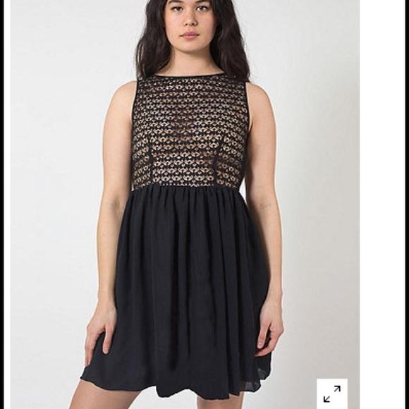 20ea533be27fd American Apparel Sleeveless Lace Chiffon Dress
