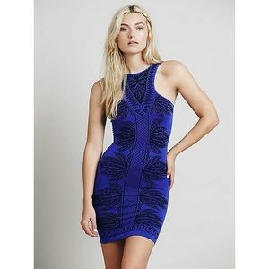 FREE PEOPLE Just Go With It Bodycon Dress
