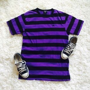 Cocomo turquoise black stripe t shirt from griselda 39 s for Purple and black striped t shirt