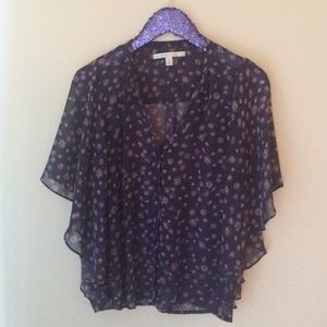 Like new, floral LC by Lauren Conrad blouse