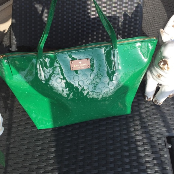 09ac1d4d233e Kate Spade green patent leather large tote. NWT